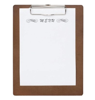 CHRselect Plaque Porte-Menus A5 | Bois