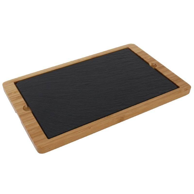 chrselect plat en ardoise pour un plateau en bois 280x180mm 2 pi ces. Black Bedroom Furniture Sets. Home Design Ideas