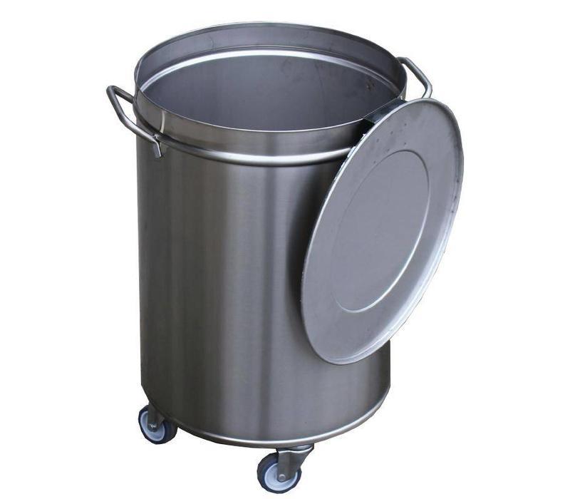 chrselect poubelle inox p dale 100 litres sur roues. Black Bedroom Furniture Sets. Home Design Ideas