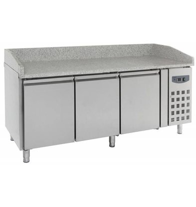 CHRselect Comptoir à Pizza Inox   3 Portes   2020x800x1000(h)mm