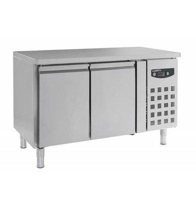 CHRselect Comptoir Congelé Inox | 2 Portes | 272 Litres |1360x700x860(h)mm