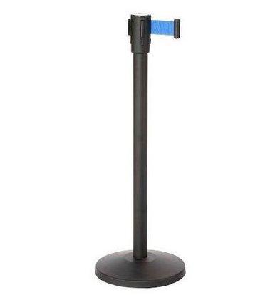 CHRselect Pilier de Barrière Noir | 9kg | Corde Rectable Bleu -180cm
