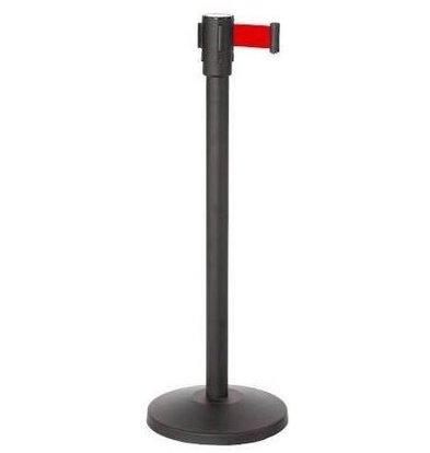 CHRselect Pilier de Barrière Noir | 9kg | Corde Rectable Rouge -180cm