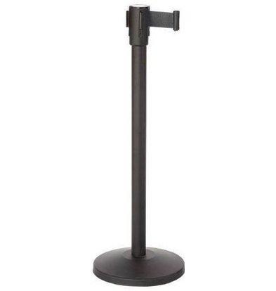 CHRselect Pilier de Barrière Noir | 9kg | Corde Rectable Noir -180cm