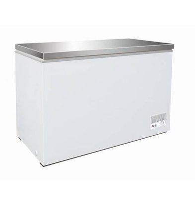 CHRselect Coffre Congelé | Couvercle Inox | 390 Litres | 130W | 1330x637/680x830(h)mm