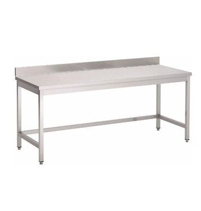 Gastro M Table de Travail Inox + Rebord   USAGE INTENSIF   700(p)x850(h)mm   8 Largeurs Différentes