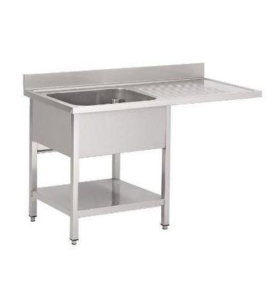 Gastro M Table de Prélavage Inox | Passage Lave-Vaisselle | USAGE INTENSIF | 1200x700x850(h)mm