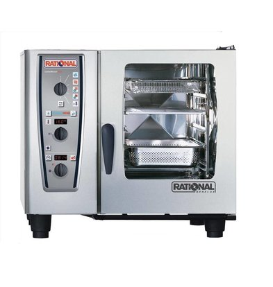 Rational Rational Four Mixte CM 61G Plus Gaz | Combimaster Plus | 6x1/1GN ou 12 x 1/2GN | 30-80 Couverts