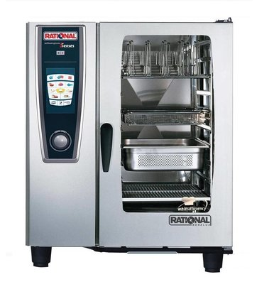 Rational Rational Four Mixte SCC 101G Gaz | Self Cooking Center 101 | 10 x 1/1 GN | Capacité 80-150 Couverts