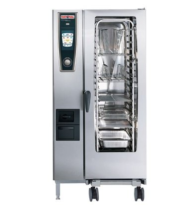 Rational Rational Four Mixte à Vapeur SCC 201G Gaz | Self Cooking Center Type 201 | 20 x 1/1 GN | 150-300 Couverts