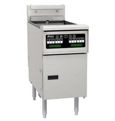 PITCO Friteuse Électrique COMPUTER | Pitco Solstice SE14SC | 17kW | Huile 23kg | 60Kg/u | 397x873x864(h)mm
