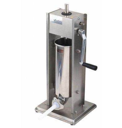 CHRselect Machine à Saucisse Inox | 5 Litres | Incl. 4 écuries trémies