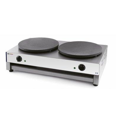 Hendi Crêpière Double Électrique   Professionnel   2x 3kW/230V   2x Plaque de 400mm