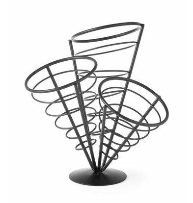 Hendi Support pour 3 Cornets de Frites | 270x270x280(h)mm