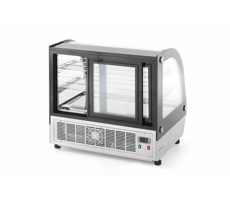 vitrine de pr sentation p tisserie 110l 3 plateaux 3 8kw 230v 700x557x670 h mm. Black Bedroom Furniture Sets. Home Design Ideas