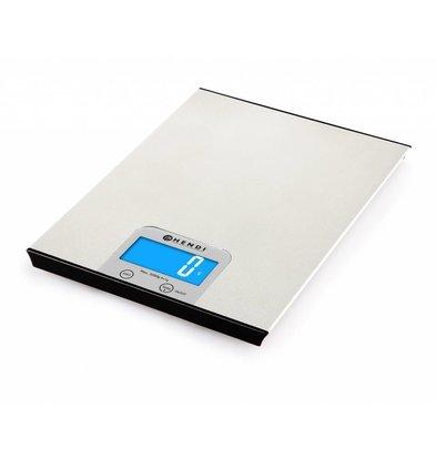 Hendi Balance de Cuisine | 5Kg/1gr. | 200x151x11(h)mm