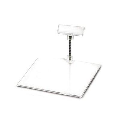 Boska Porte-Étiquette Perspex S | 100x100x50(h)mm | Vendu par 10