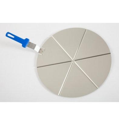 Saro Plat à Pizza Aluminium | Manche Plastique | Ø450mm