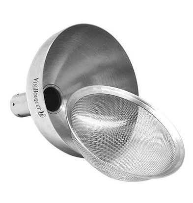 CHRselect Entonnoir Carafe de Vin INOX | Filtre inlcus | Ø90x90mm