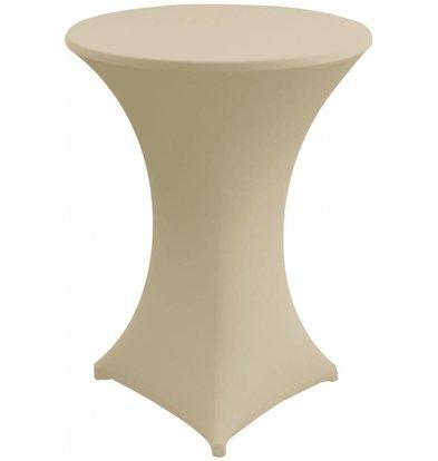 Unicover Housse de Table Cocktail VENUS | Crème | Disponibles en 3 Tailles