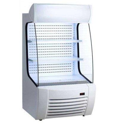 Saro Meuble Réfrigérée Blanche   360 Litres   Rideau de Nuit   870x950x1520(h)mm