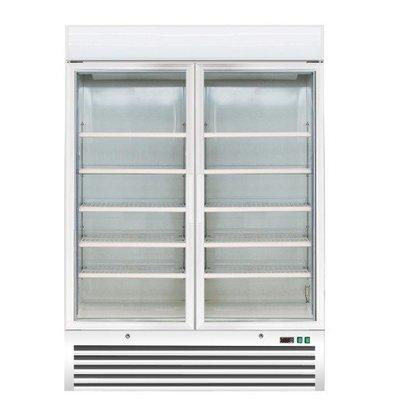 Saro Vitrine Congelée Acier | Modèle Ventilée | Capacité 920 Litres | 1370x720x1990(h)mm
