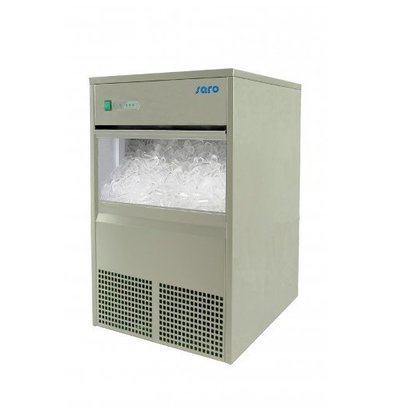 Saro Machine à Glaçons INOX   45kg/24h   Stockage 10kg   2 Ans de Garantie