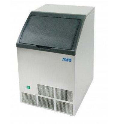 Saro Machine à Glaçons INOX   40kg/24h   Stockage 12kg   Glaçons Carrés