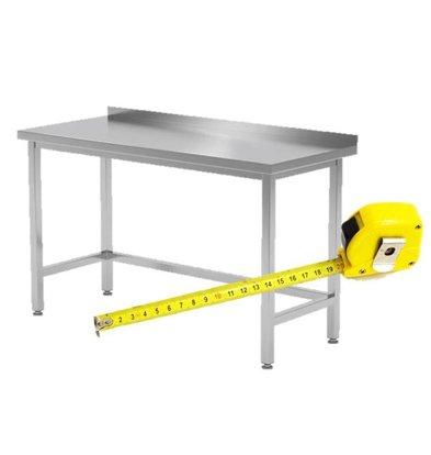 CHRselect Table de Travail INOX sans Étagère Basse | FAIT SUR MÉSURE