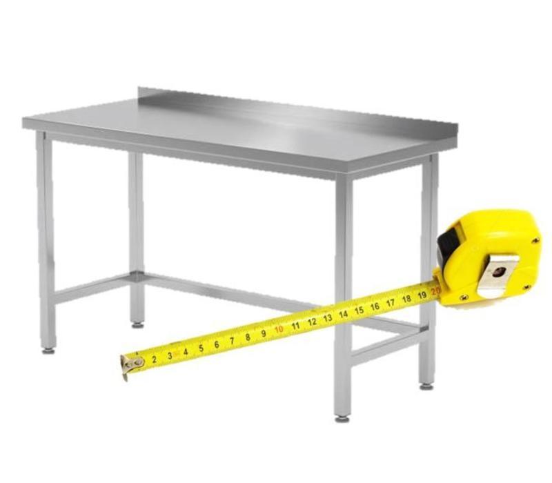 table de travail inox sans tag re basse fait sur m sure. Black Bedroom Furniture Sets. Home Design Ideas
