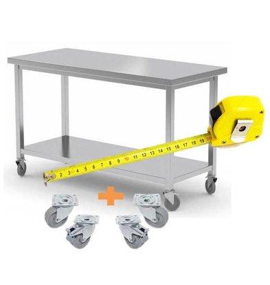 CHRselect Table de Travail INOX / Comptoir sur Roues | FAIT SUR MESURE
