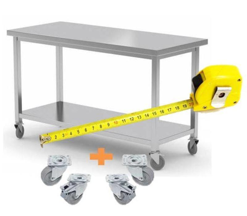 Chrselect table de travail inox comptoir sur roues for Table de travail inox