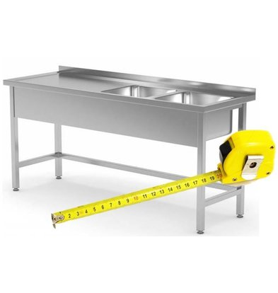CHRselect Table de Prélavage INOX | FAIT SUR MÉSURE