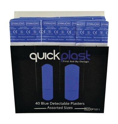 CHRselect Pansements Bleus Quickplast | 40 Pièces Assorti