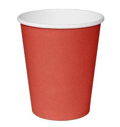 CHRselect Gobelets Jetables Rouge | 230ml | Simple Paroi | Par 50 Pièces