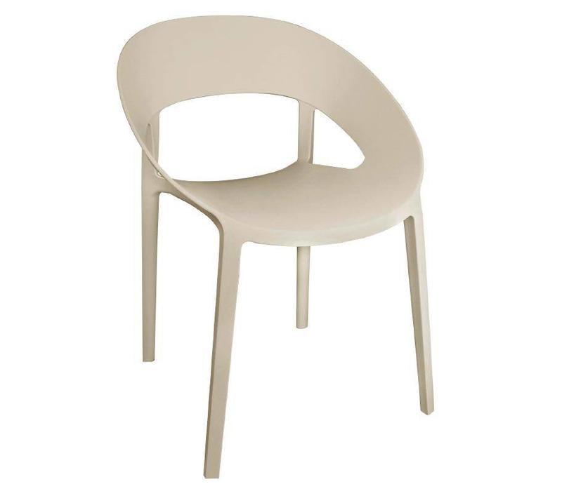 CHRselect Chaise Enveloppante en PP Beige   Empilable   Lot de 12