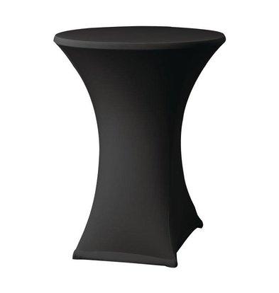 CHRselect Housse de Table Cocktail Samba | pour Tables Ø85x115(h)cm | Noir