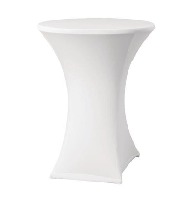 CHRselect Housse de Table Cocktail Samba | pour Tables Ø85x115(h)cm | Blanc