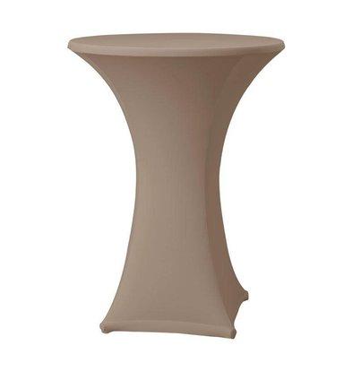 CHRselect Housse de Table Cocktail Samba | pour Tables Ø85x115(h)cm | Taupe