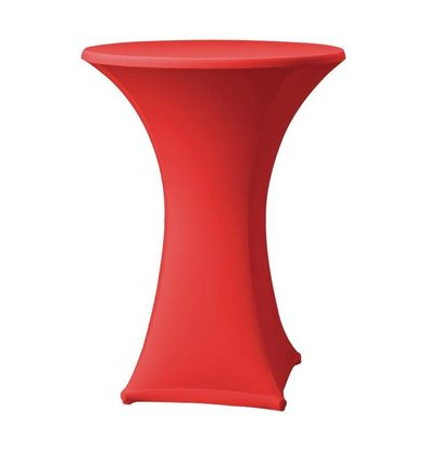 CHRselect Housse de Table Cocktail Samba | pour Tables Ø85x115(h)cm | Rouge