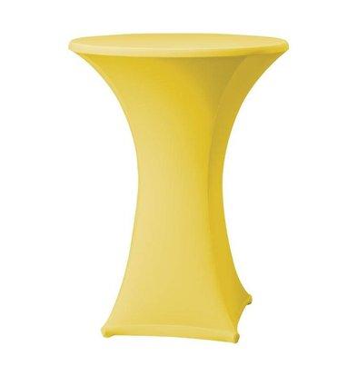 CHRselect Housse de Table Cocktail Samba | pour Tables Ø85x115(h)cm | Jaune