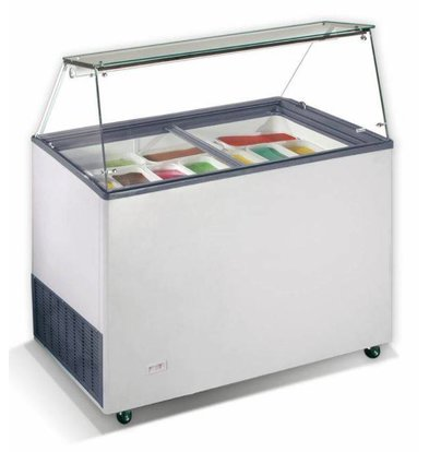 CHRselect Vitrine à Glace Java | 9x 5 Litres | 200W | 1184x727x1229(h)mm