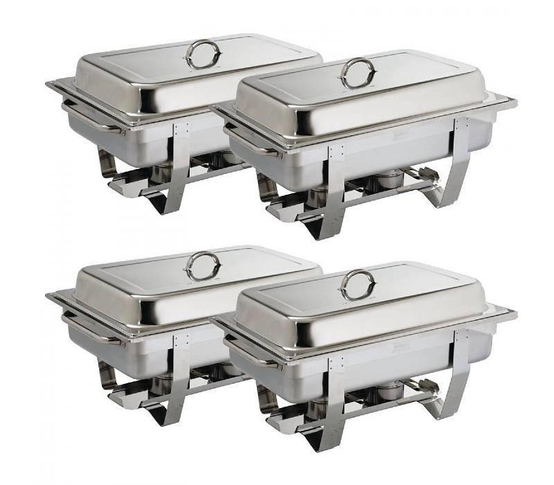 CHRselect Lot De 4 Chafing Dish Milan   GN1/1 - 9 Ltr   PROMOTION XXL!