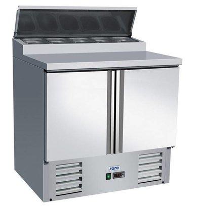 Saro Saladette INOX | 2 Portes avec Présentoir 5x 1/6GN | 900x700x980(h)mm