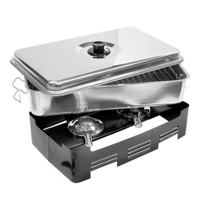 CHRselect Fumoir INOX | 2 Grilles | 45x27x20(h)mm