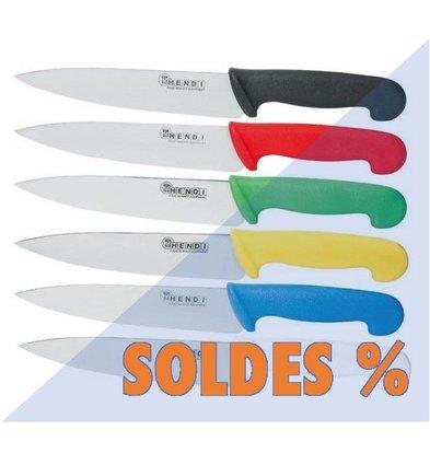 Hendi Set de 6 Couteaux HACCP | 180mm | Bleu, Blanc, Rouge, Jaune, Vert, Noir | PROMOTION XXL!