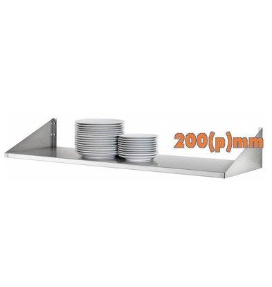 Bartscher Étagère Assiette Inox | COMPLÈTE | 200(p)mm | Disponibles en 4 Largeurs