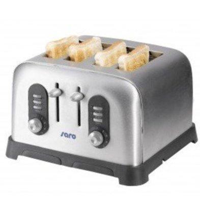Saro Toaster Américain | 4 Tranches | 1700W | avec Minuteur