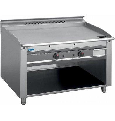 Saro Grill Teppanyaki à Gaz | 2x 5,8kW | Piëzo Allumage | 2 Zones de 0 à 270°C