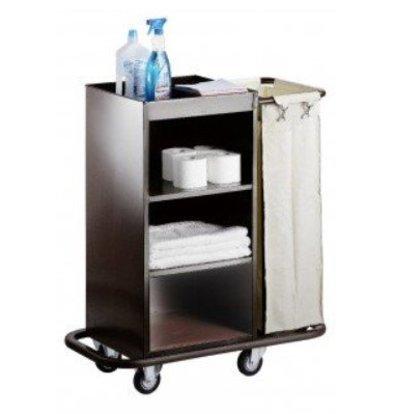 Saro Chariot Room Services Acier + Sac à Linge   830x450x1120(h)mm
